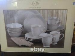 Lenox French Perle White 16-Piece Dinnerware Set. Please Read Description