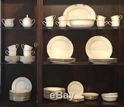 Lenox Hannah Gold Bone China Dinnerware- 12, 5-pc Place Settings + Accessory pcs