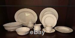 Lenox Hannah Gold Bone China Dinnerware- 12, 5-pc Place Settings + Accessory pcs