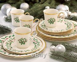 Lenox Holiday 12 Piece Dinnerware Set, Service for 4