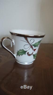 & Lenox Holiday Nouveau Platinum White Christmas Dinnerware for 8 New