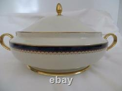 Lenox Jefferson Presidential Gold Round Covered Vegetable Bowl New