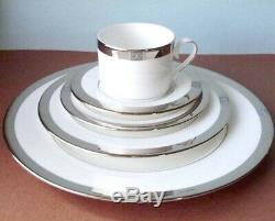 Lenox Jewel Platinum 5 Piece Place Setting Dinnerware Set Made in USA New In Box