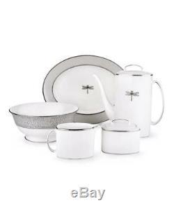 Lenox Kate Spade June Lane Platinum Dinnerware 49pc Place Set for 8 New