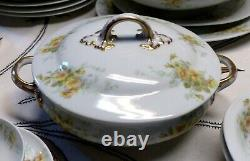 Limoges Antique Set for 18 people 143 pieces Guerin France Dinnerware Plates