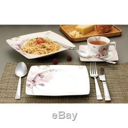 Lorren Home Trends 57-piece Sophie Bone China Dinnerware Set Service for 8 Roses