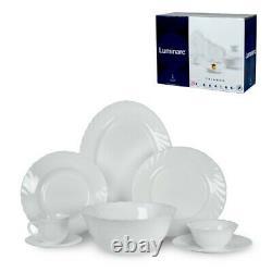 Luminarc Trianon 38 pc Glass Dinnerware Service / Tea Set Made in France