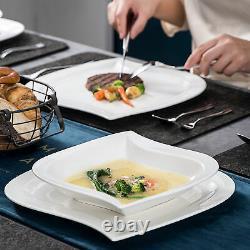 MALACASA Elvira 30pcs Porcelain Dinnerware Set Plates Cups Saucers Set Tableware