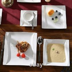 MALACASA, Series Carina, 30-Piece Dinner Set for 6 Sets Porcelain Dinnerware