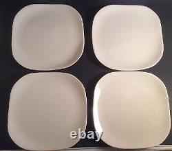 MCM Eva Zeisel Castleton Museum White 10 Square Dinner Plate Set Of 4