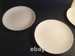 MCM Eva Zeisel Castleton Museum White Round 10.5 Dinner Plate Set Of 8