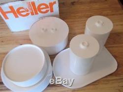 MCM Heller Max1 Massimo Vignelli 25 Piece White Melamine Dinnerware Set