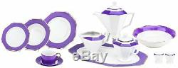 Majestic Porcelain G1636F, 49-Piece Dinner Set, Dinnerware Service for 8