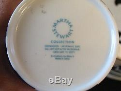 Martha Stewart Dinnerware LISBON Dinner & Salad Plates Cups & Cereal Bowls 25 Pc