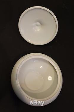 Mid Century Modern Augarten White Porcelain Sugar Bowl From Vienna