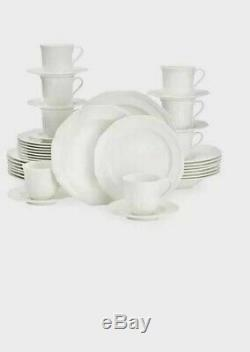 Mikasa Antique White 40-Pc. Dinnerware Set, Service for 8 Person(NEW WITHOUT BOX)