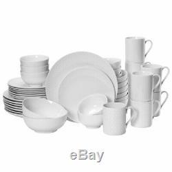 Mikasa Cheers White 40 Piece Dinnerware Set