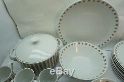 Mikasa China Set Accent Lido Pattern 5581 42pc Set Dinnerware MID Century Modern