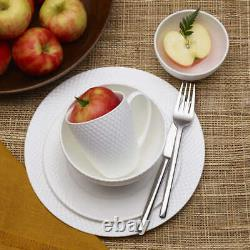 Mikasa Dinnerware Set Bone China Plates Bowls 40 Piece Service for 8 White