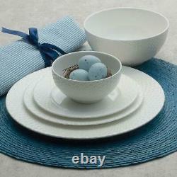 Mikasa Dinnerware Set Lattice 40-Piece White Serves 8 Bone China Classic