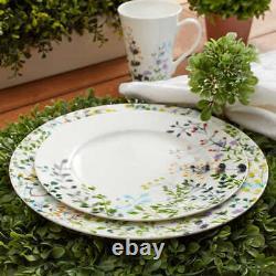 Mikasa Dinnerware Set Tivoli 16-Piece White Multicolor Floral Charm Bone China