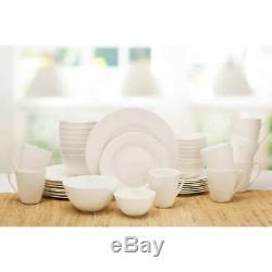Mikasa Dinnerware Set White Huntington Bone China 40-Piece Serves 8 Durable