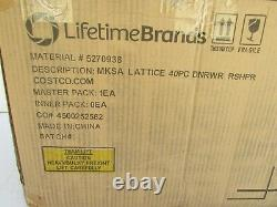 Mikasa Lattice 40-piece Bone China Dinnerware Set, Microwave and dishwasher safe