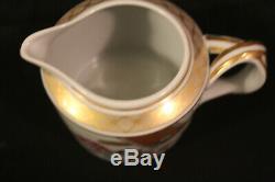Mottahedeh Vista Alegre Lowestoft Rose Coffee Pot Sugar Bowl Creamer Fine China