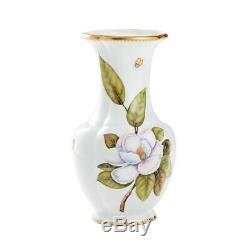 NEW Anna Weatherley Studio Collection Handpainted 24K Gold Magnolia Vase