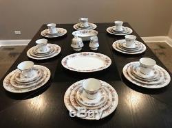 Vintage Noritake Tremont 45 Piece China Dinnerware Set For 8 People