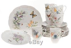 NEW Lenox Butterfly Meadow 18-Piece Dinnerware Set Service for 6 Dinner Plates