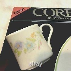 NEW in BOX Vintage Corelle Pastel Bouquet 320-93 20 pc Dinnerware Set