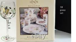NIB LENOX Butterfly Meadow 18 Dinnerware Set FREE SHIPPING