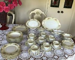 NORITAKÉ OCCUPIED JAPAN Dinnerware Set 1940s 59 Pieces