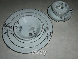 NORITAKE ROSAMOR CHINA SERVICE FOR TWELVE (12) DISCONTINUED 197572 Pieces