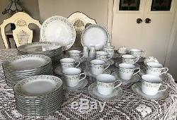 NORITAKE china -WYNWOOD 6879 pattern Dinnerware Set -70 pieces Very Nice