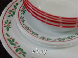 NW 12-pc Corelle WINTER HOLLY DINNERWARE SET Dinner BREAD PLATES 18-oz BOWLS