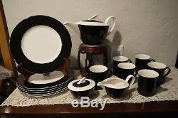 NWT Villeroy & Boch WONDERFUL WORLD BLACK Dinnerware Set 17 Pieces