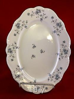 New 105 pcs Set for 12 Johann Haviland Bavaria Germany Blue Garland Porcelain