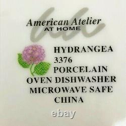 New 20 Piece Set American Atelier Hydrangea 3376 Dinnerware 4 Five Pc Settings
