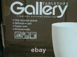 New 40 Pc Set Tabletops Gallery White Dinnerware Plates Bowls Mugs Nib
