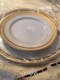 New Christian Dior Gaudron White Cake Plate + Server, and 6 Big Plates For Cake