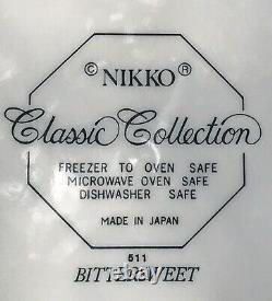 Nikko Bittersweet Set of Dinnerware 15pc Red Floral Octagonal Japan