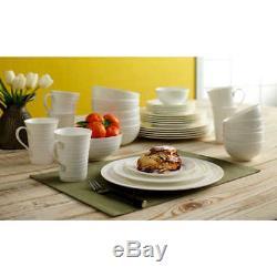 No Tax Mikasa Swirl White 36-piece Bone China Dinnerware Set