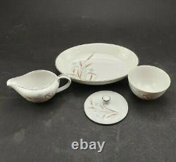 Norcrest Autumn Breeze Wheat Pattern Fine China Set Of 43 Dishes Used Vintage