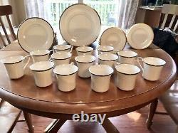 Noritake 7713 GOLD & PLATINUM 76pc Dinnerware Plates Bowls Cups Dishes JAPAN