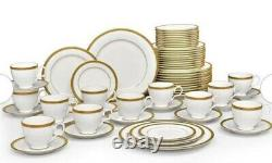 Noritake Charlotta Gold 60-piece Dinnerware Value Set Service for 12