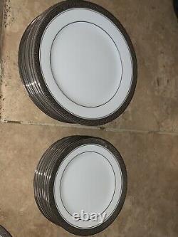 Noritake China CRESTWOOD PLATINUM-EIGHT Settings 5 Piece Dinnerware
