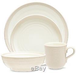 Noritake Colorvara White 48Pc Dinnerware Set, Service for 12