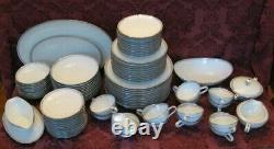Noritake Silver Key China Dinnerware Set for Ten (10)+ & Serving Dishes Nice